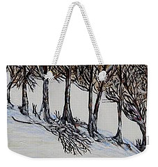 Weekender Tote Bag featuring the painting Branch Broken by Marilyn  McNish