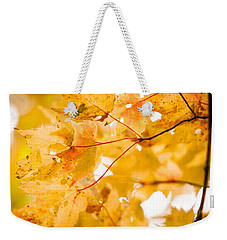 Branching Yellow Weekender Tote Bag by Melinda Ledsome