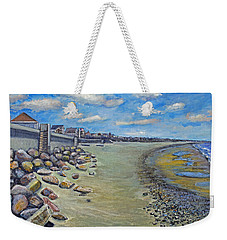 Brant Rock Beach Weekender Tote Bag by Rita Brown