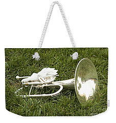 Weekender Tote Bag featuring the photograph Brass In Grass by Carol Lynn Coronios