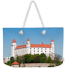 Weekender Tote Bag featuring the photograph Bratislava Castle by Les Palenik