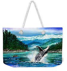 Breaching Humpback Whale Weekender Tote Bag