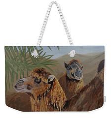 Weekender Tote Bag featuring the painting Break Time by Karen Ilari