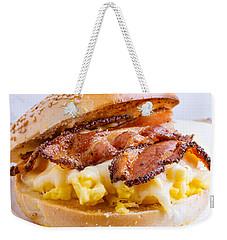 Breakfast Sandwich Weekender Tote Bag by Edward Fielding
