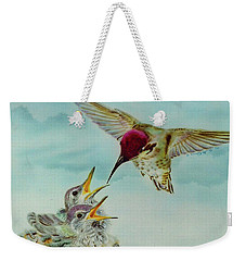 Weekender Tote Bag featuring the painting Breakfast by Thomas J Herring