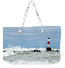 Weekender Tote Bag featuring the photograph Breaking by Steven Santamour