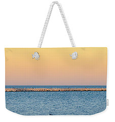 Weekender Tote Bag featuring the photograph Breaking The Sunset by Steven Santamour