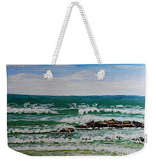 Breaking Waves Weekender Tote Bag