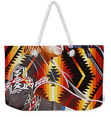 Weekender Tote Bag featuring the painting Brett Dennen by Joshua Morton
