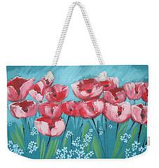 Brezzy Poppies Weekender Tote Bag