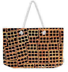 Brick Abstract Weekender Tote Bag by Vivian Christopher