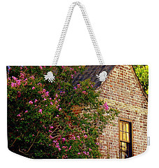 Weekender Tote Bag featuring the photograph Brick And Myrtle by Rodney Lee Williams