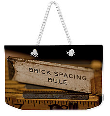 Brick Mason's Rule Weekender Tote Bag by Wilma  Birdwell