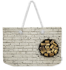 Bricks In The Wall - Abstract Weekender Tote Bag by Steven Milner