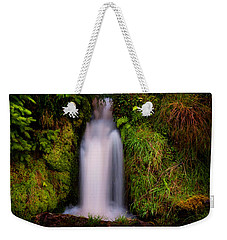 Bridal Dress. Waterfall At Benmore Botanical Garden. Nature Of Scotland Weekender Tote Bag by Jenny Rainbow