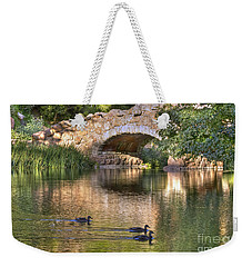 Weekender Tote Bag featuring the photograph Bridge At Stow Lake by Kate Brown