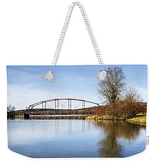 Weekender Tote Bag featuring the photograph Bridge At Upper Lisle by Christina Rollo
