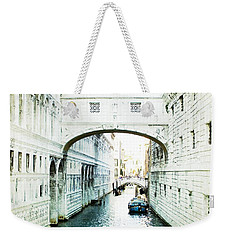 Weekender Tote Bag featuring the photograph Bridge Of Sighs - Venice by Lisa Parrish