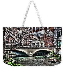Weekender Tote Bag featuring the photograph Bridge Over San Antonio River by Deborah Klubertanz