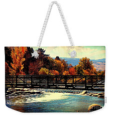 Bridge Over The Truckee River Weekender Tote Bag by Bobbee Rickard