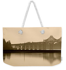 Bridge Reflection In Sepia Weekender Tote Bag
