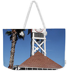 Weekender Tote Bag featuring the photograph Bridge Street Pier And Clocktower  by Christiane Schulze Art And Photography
