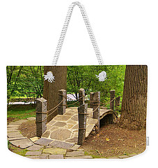 Weekender Tote Bag featuring the photograph Bridge To The Land Of The Fairies by Jean Goodwin Brooks