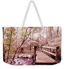 Weekender Tote Bag featuring the photograph Bridge To Utopia  by Cindy Greenstein