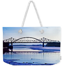 Bridges Over The Mississippi Weekender Tote Bag