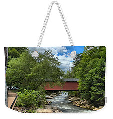 Bridging Slippery Rock Creek Weekender Tote Bag