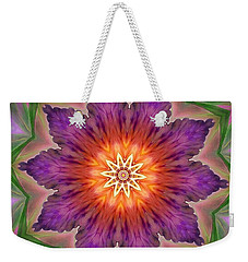 Weekender Tote Bag featuring the digital art Bright Flower by Lilia D