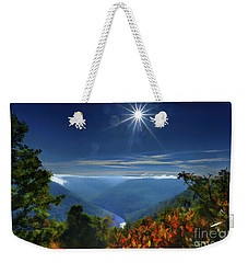 Bright Sun In Morning Cheat River Gorge Weekender Tote Bag