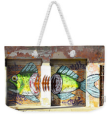 Brightly Colored Fish Mural Weekender Tote Bag