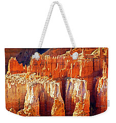 Weekender Tote Bag featuring the photograph Brilliant Bryce by Marty Koch
