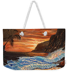 Brilliant Hawaiian Sunset 1 Weekender Tote Bag by Jenny Lee