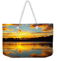 Weekender Tote Bag featuring the photograph Brilliant Sunrise by Dianne Cowen