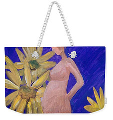 Weekender Tote Bag featuring the painting Bringer Of Life by Marisela Mungia