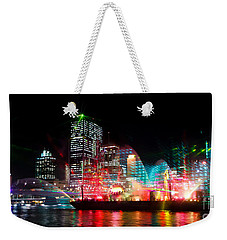 Brisbane City Of Lights Weekender Tote Bag