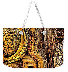 Weekender Tote Bag featuring the photograph Bristlecone Pine Bark Detail White Mountains Ca by Dave Welling