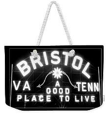 Bristol Virginia Tennesse Slogan Sign Weekender Tote Bag