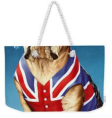 British Bulldog Weekender Tote Bag by Andrew Farley
