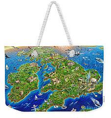 British Isles Weekender Tote Bag by Adrian Chesterman