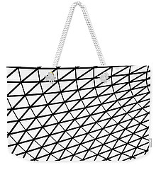 Weekender Tote Bag featuring the photograph British Museum Geometry by Rona Black