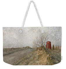 British Phone Box Weekender Tote Bag by Liz  Alderdice