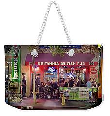 British Pub Weekender Tote Bag