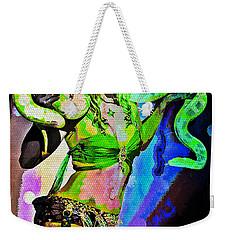 Britney Neon Dancer Weekender Tote Bag by Absinthe Art By Michelle LeAnn Scott