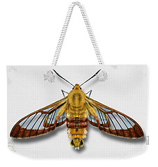 Broad-bordered Bee Hawk Moth Butterfly - Hemaris Fuciformis Naturalistic Painting -nettersheim Eifel Weekender Tote Bag