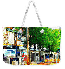 Broadway Oyster Bar With A Boost Weekender Tote Bag by Kelly Awad