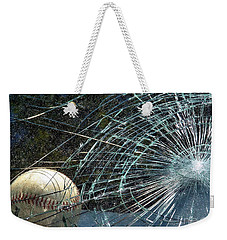 Weekender Tote Bag featuring the photograph Broken Window by Robyn King