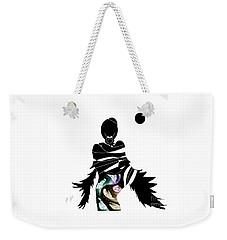 Weekender Tote Bag featuring the digital art Broken Wings by Ann Calvo